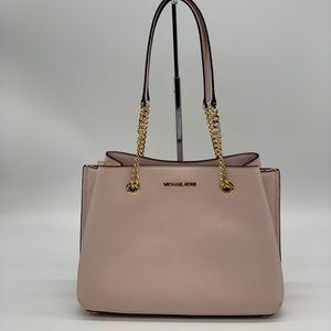 Michael Kors long Drop Satchel Bag Leather